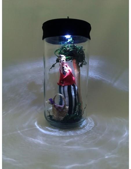 """Lámpara """"Te tengo en el Bote"""" en el Bosque con su cestita"""
