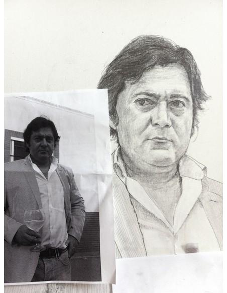 Retratos blanco y negro sobre fondo de color