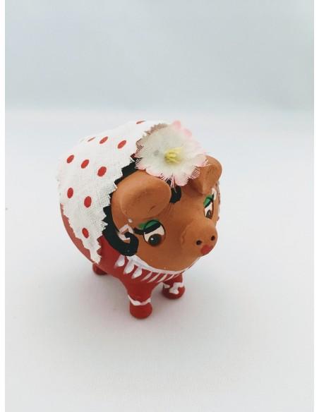 hucha cerdita flamenca cuatro patas Mini