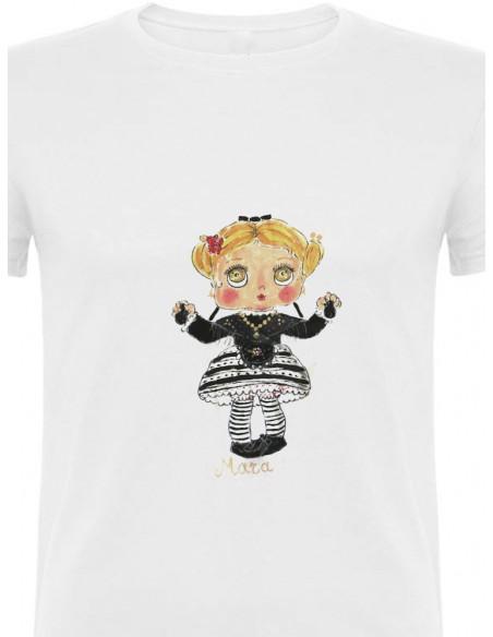 Camiseta extremeña castañuelas bailando