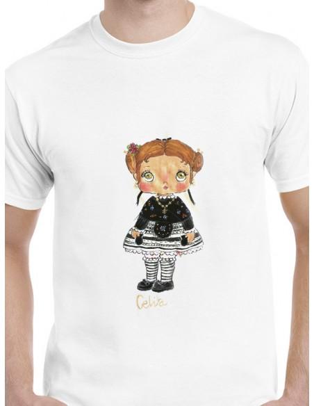 Camiseta extremeña con castañuelas