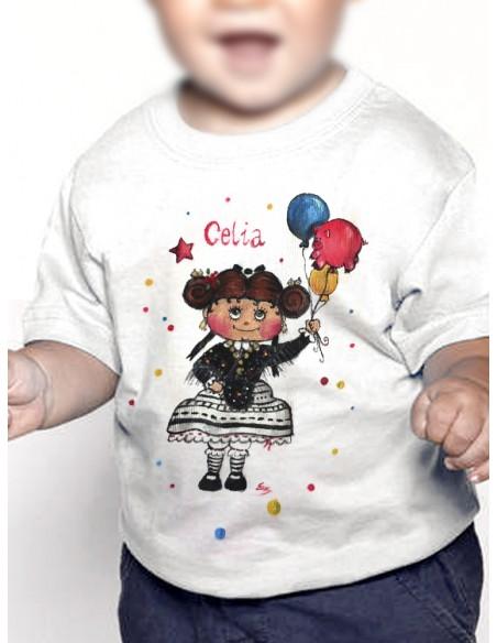 Camiseta extremeña con globos