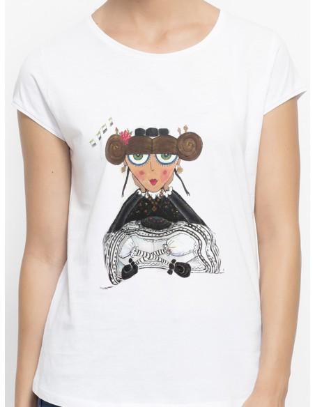 Camiseta extremeña sentada