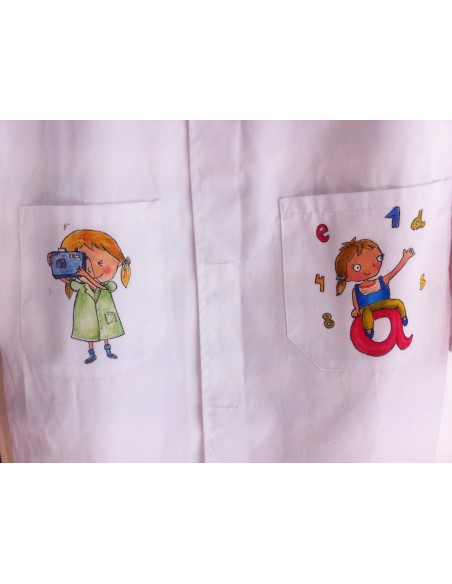Batas y delantales personalizadas pintadas a mano