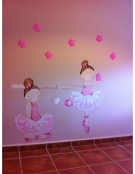 Pintura mural de habitaciónes infantiles. Decoración