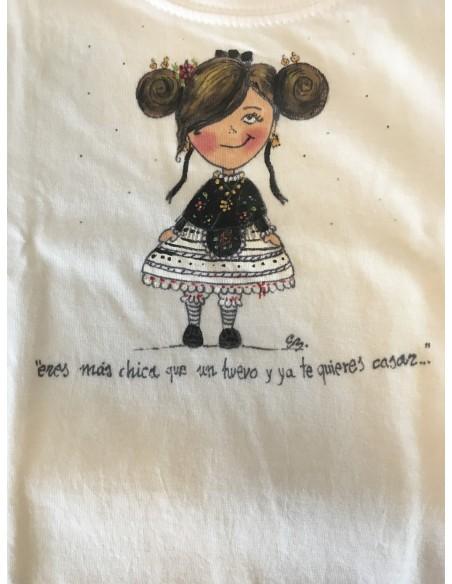 Camiseta extremeña eres más chica que un huevo...sonrisa