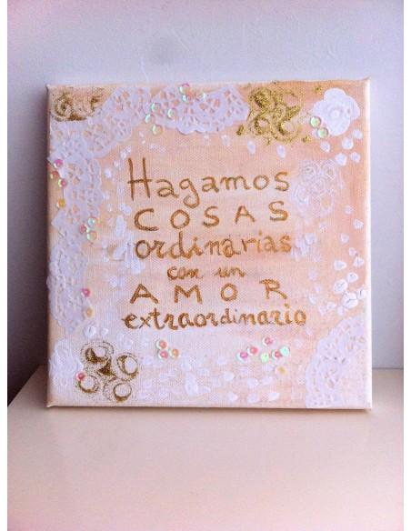 Cuadros pintados a mano con frases