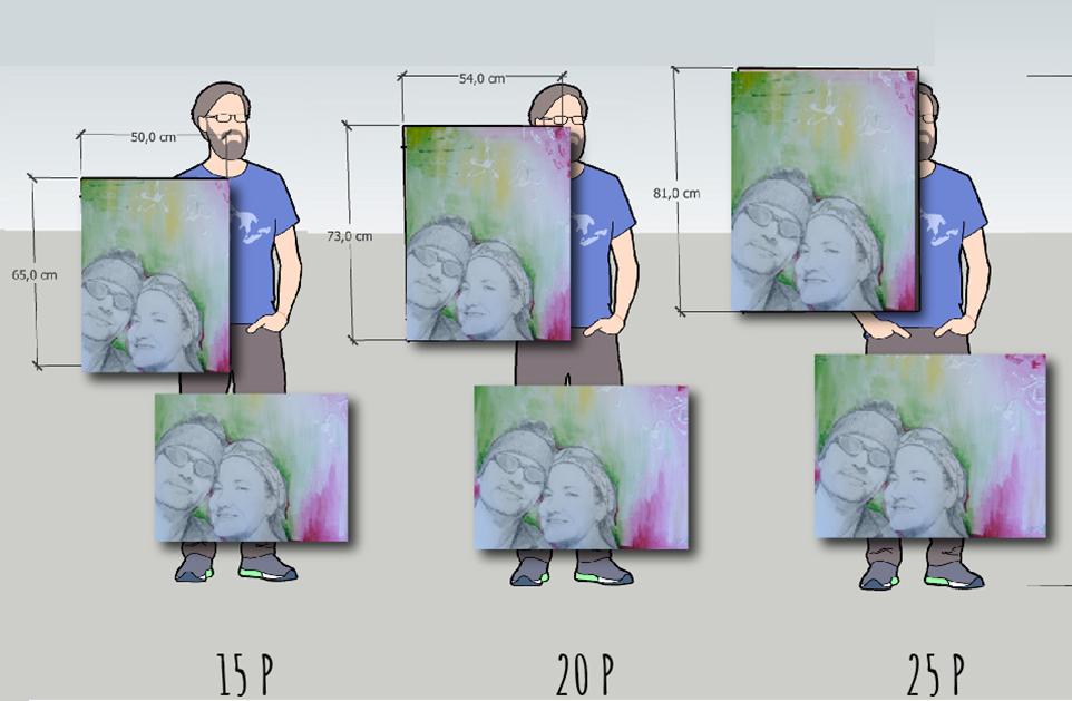 tamaños formatos lienzos paisaje 2