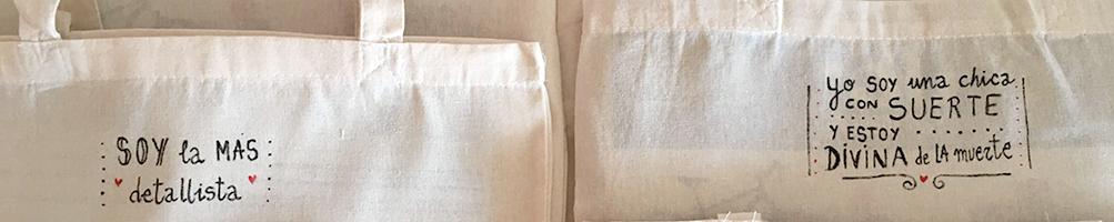 ropa y complementos pintados a mano personalizados camisetas broches, bolsos de algodón, tote bags...